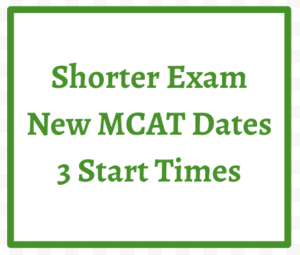 Shorter Exam New MCAT Dates 3 Start Times Leah4sci