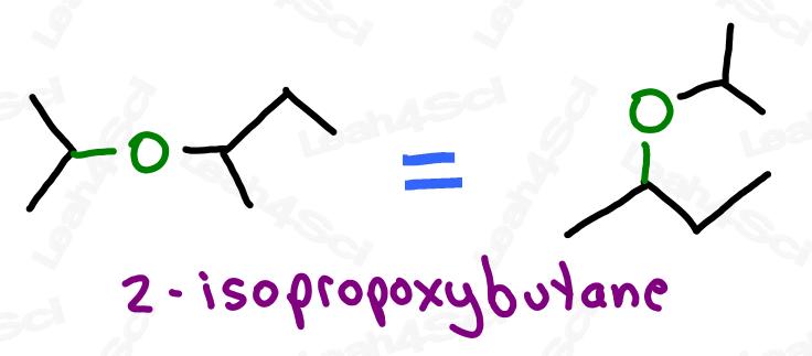 2-isopropoxybutane drawing ethers