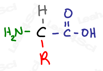 Amino acid with variable side chain