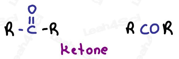 Ketone functional group RCOR