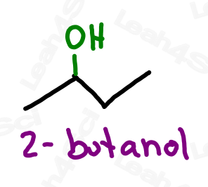 Naming alcohols 2-butanol