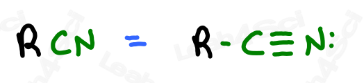 Nitrile functional group RCN