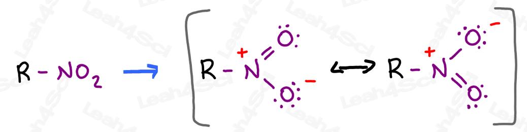 Nitro group RNO2 with resonance