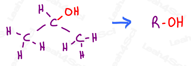 R group to highlight functional group