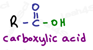 Structure of carboxylic acid functional group