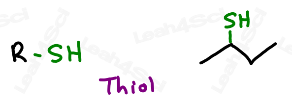 Thiol functional group RSH