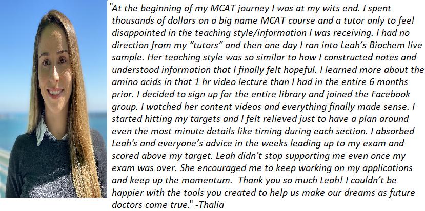 Thalia Testimonial by Leah4Sci