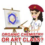 Drawing organic compounds feels like art class