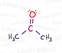 acetone propanone lewis structure